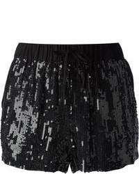 Black Sequin Shorts