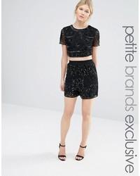 Maya petite all over tonal sequin shorts medium 3662291