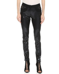 Collection sequined skinny pants medium 318659