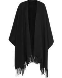 Acne Studios Fringed Wool Wrap Black