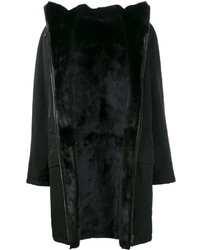 Army yves salomon mink and lamb fur lined coat medium 842162