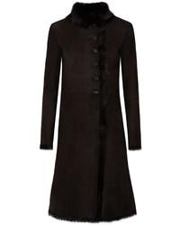 Luke shearling coat black medium 709201