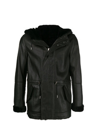Yves Salomon Homme Reversible Hooded Shearling Jacket
