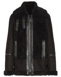 Black shearling jacket original 10139912