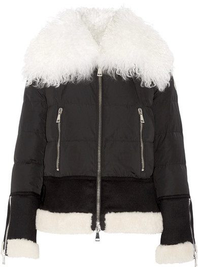 2d7ac2179 Kikilia Shearling Trimmed Quilted Shell Down Jacket Black