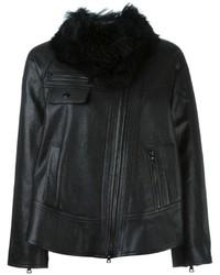 Proenza Schouler Faux Fur Collar Jacket
