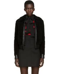 Saint Laurent Black Shearling Jacket