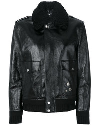 Saint Laurent Shearling Trim Flight Jacket