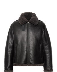Acne Studios Shearling Trimmed Leather Jacket