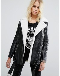 Goldie Wreckless Aviator Jacket With Faux Shearling