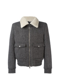 AMI Alexandre Mattiussi Zipped Jacket With Shearling Collar