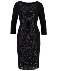 Adrianna Papell Jersey Dress Black