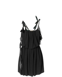 Saint Laurent Feather Trim Strappy Dress