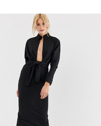 Asos Tall Asos Design T Sleeve Wrap Shirt Midi Dress