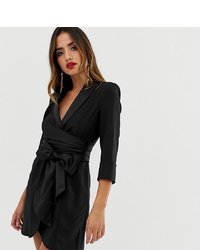 ASOS DESIGN Mini Tux Dress With Self Tie Belt