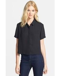 Leith Short Sleeve Woven Shirt Black X Small