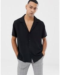 ASOS DESIGN Oversized Deep Revere Shirt