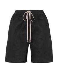 Rick Owens Coated Denim Shorts