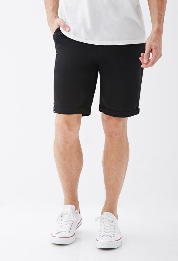 Forever 21 Cuffed Chino Shorts   Where to buy & how to wear