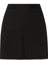 Theory Taminara Pleated Stretch Linen Blend Shorts