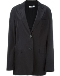 Black Silk Blazer