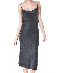 Black Silk Cami Dress