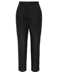 Dolce & Gabbana Silk Blend Straight Leg Pants