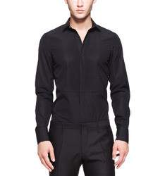 DSquared 2 Tuxedo Shirt With Pleated Bib Black