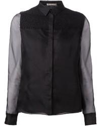 Lace panel shirt medium 1158565