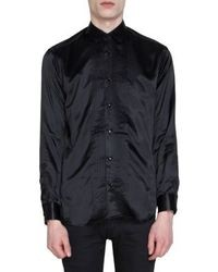 Saint Laurent Pleated Bib Shirt