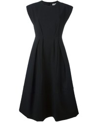 Jil Sander Crepe Round Neck Dress
