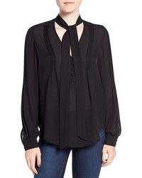 Paige Lupita Tie Neck Silk Blouse