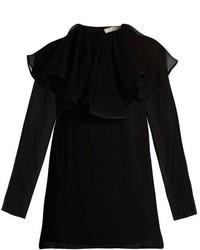 Nina Ricci Detachable Collar Silk Chiffon Blouse