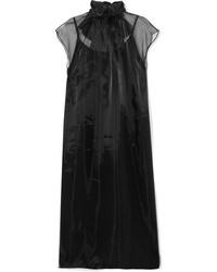 Prada Ed Silk Organza Midi Dress