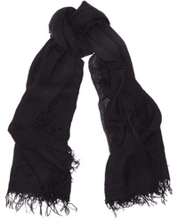 Cashmere and silk blend scarf black medium 541737