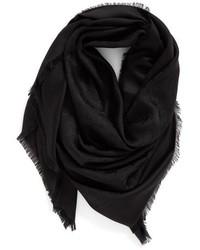 Marc Jacobs Monogram Silk Wool Jacquard Scarf