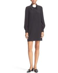 Kate Spade New York Rosette Bow Silk Shirtdress