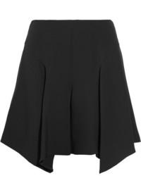 Maiyet Asymmetric Silk Shorts Black