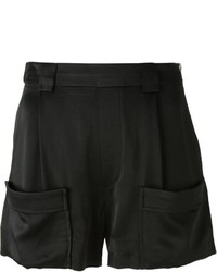 Band Of Outsiders Satin Side Zip Shorts
