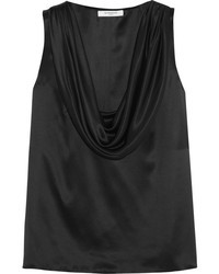 Black Silk Sleeveless Top