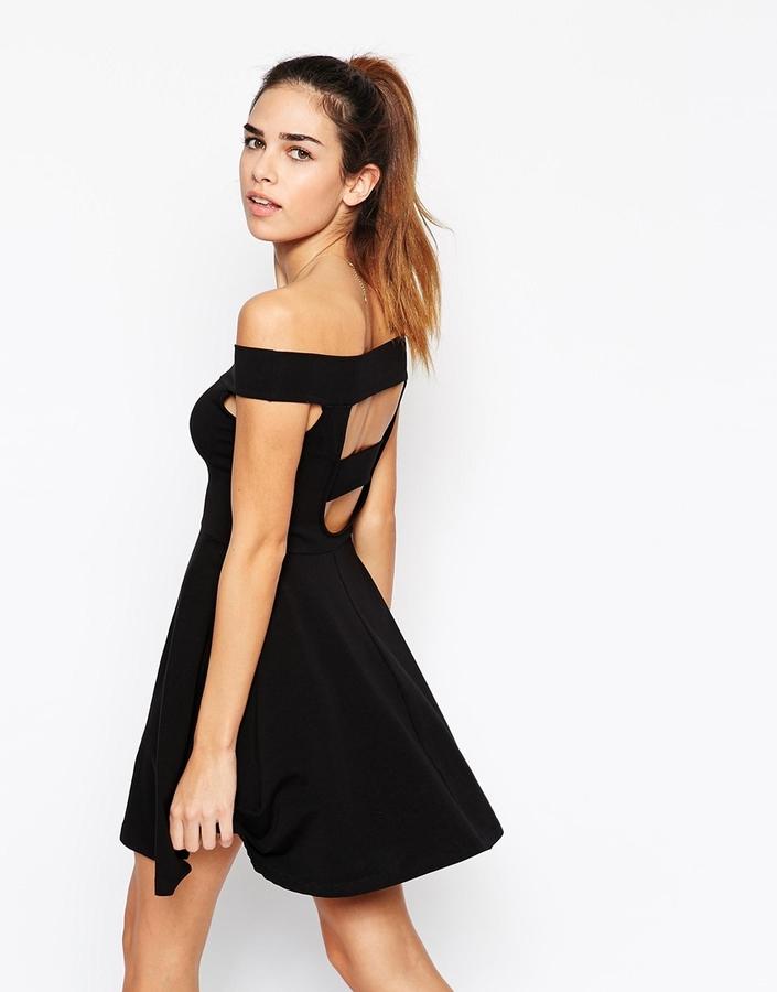 845cdffe8c0b ... Asos Collection Bardot Mini Skater Dress ...