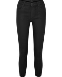J Brand Alana Coated High Rise Skinny Jeans