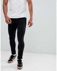 LDN DNM Extreme Skinny Biker Jeans In Black