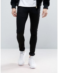 ASOS DESIGN Extreme Super Skinny Jeans In Black