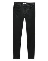 Mango Gloss1 Jeans Skinny Fit Black Denim