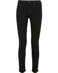 Rag & Bone High Rise Skinny Jeans Black
