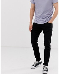 Jack & Jones Intelligence Tapered Slim Fit Jeans In Black