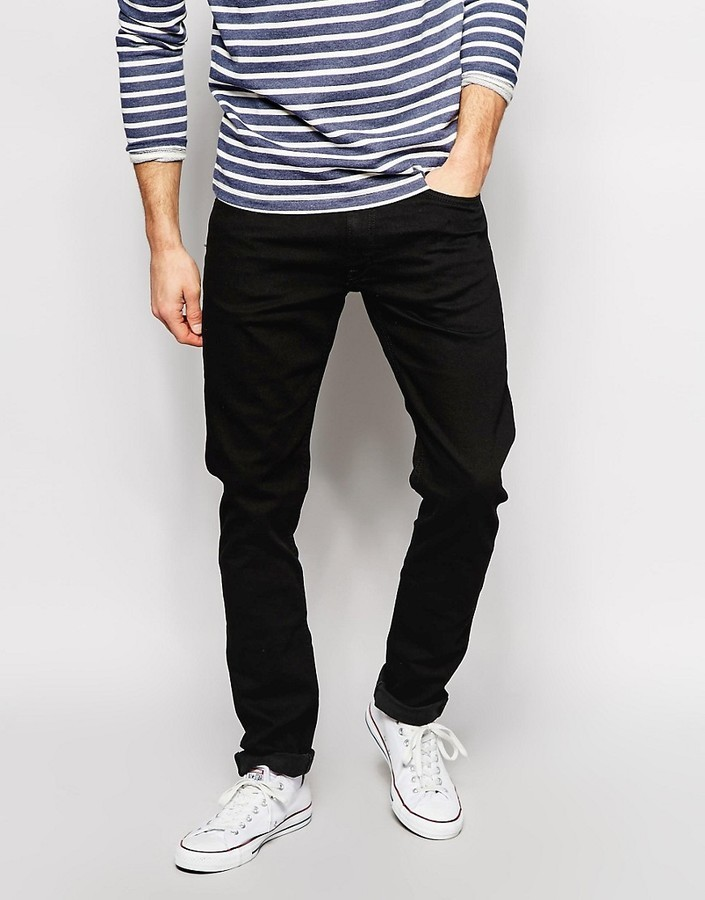30f71754b04 ... Lee Jeans Luke Skinny Clean Black ...