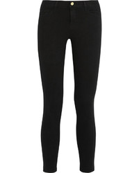 Frame Le Color Cropped Mid Rise Skinny Jeans Black