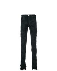 Fagassent Paint Splatter Distressed Jeans